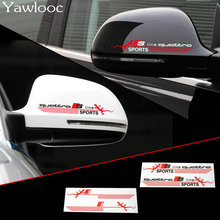 Yawlooc 2pcs/lot Sline Quattro SPORTS Car Rearview Mirror Sticker Car Body Sticker Audi A6 A5 A7 A3 A4 Q3 Q5 S4 S6 S8 TT
