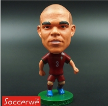 Soccerwe National Series 6.5 cm Height Resin Football Doll Portugal 3 Pepe Figure Red Kit Collections(China)