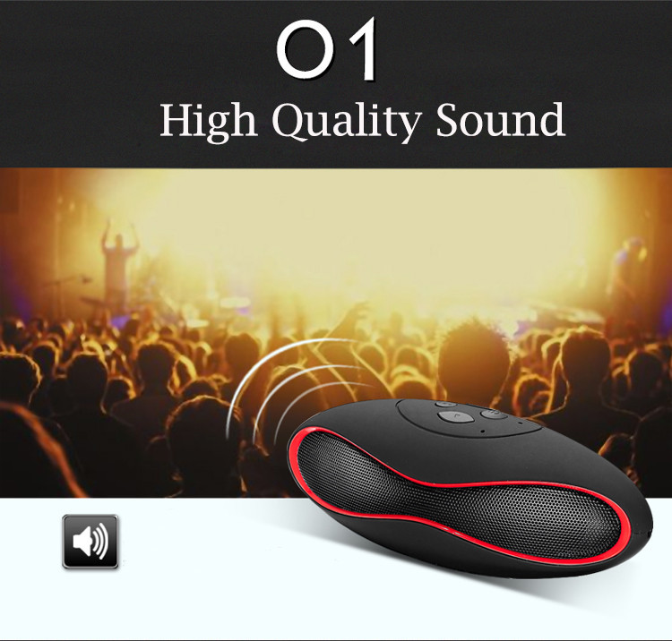 2017New Fashion Mini Portable Rugby Bluetooth Speaker Boombox Wireless Sports Loudspeaker Music Player Support TF/USB SoundBar