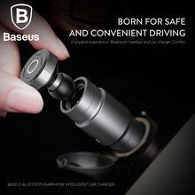 Baseus 2in1 Car Charger with Portable Wireless Bluetooth Earphone Universal 2.4A Fast Car Charger / mini In-Ear Earbuds Headset(China)