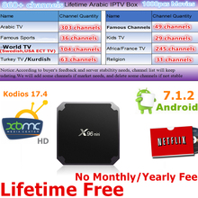 X96 Mini Android 7.1 TV Arabic IPTV Amlogic S905W Suppot 2.4GHz WiFi Media Player Arabic IPTV Box 1GB 8GB X96mini Sweden IPTV(China)