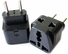 1 to 2 Splitter Universal UK/US/EU/AU 3 Pins / 2 Pins Socket to Italy Travel Power Adapter Plug Italy, EU 4.0MM PLUG TYPE C
