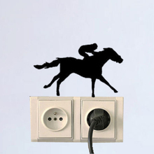 Thoroughbred Horse Racing Fashion Vinyl Light Switch Wall Stickers Decals 5WS1512