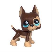 Pet Shop Collection LPS Figure Toy Great Dane Puggy Dog Green Eyes #1519 Nice Gift Kids