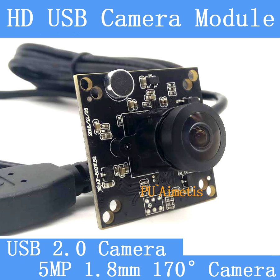 32*32mm Industry Surveillance camera HD 500W 1.8mm 170degree wide-angle notebook computer using the USB camera module With audio(China)