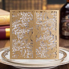 Timeless Romantic Wedding Card/Laser Cut Flower Fold Wedding Invitation Card wedding gift for guest wedding place holder invite(China)