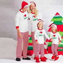 Puseky Christmas Pajamas Family Look Father Son Matching Clothes Kids Warm Long Sleeve Sleepwear Matching Mother And Daughter(China)