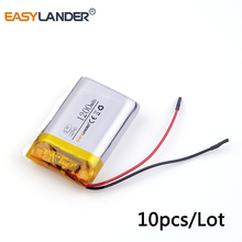 10pcs/Lot 3.7v lithium Li ion polymer rechargeable battery 122540 1200mAh for DVR RECORD MP3 MP4 GPS SMART WATCH SPORT CAMERA(China)