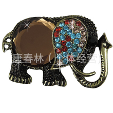 DOWER ME Brand Gem Elephant DIY Decoration 5pcs 3D Mobile Phone Decorations Alloy Stickers for Phone Autocolantes No Telefone(China)