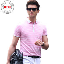 HTLB 2017 High Quality Brand Boss Business Men Polo Shirt New Summer Casual Striped Cotton Men's Polo Shirt Polo RalpMen Camisa(China)