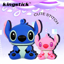 100% real capacity USB flash drive 4gb/8gb/16gb cartoon U disk cute thumb memory stick 32gb 64gb stitch pen drive usb flash