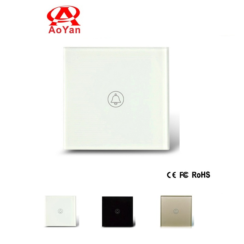 NEW AOYAN EU Standard Smart Touch Switch , Crystal Glass Panel, AC110~250V, LED indicator, Doorbell Switch AY-M601<br><br>Aliexpress