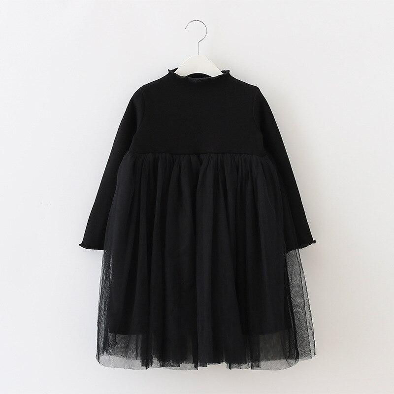 Winter childrens dresses girls lace dress new child fluffy gauze princess dress 2017<br>