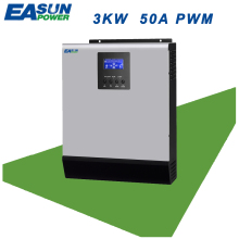 EASUN POWER PWM Solar Inverter 3000W 3Kva 24V Pure Sine Wave Inverter 50A Off Grid Inverter 220V Hybrid Inverter 30A AC Charger(China)