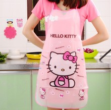 Apron Funny Kitchen Aprons Kawaii Hello Kitty Waterproof Anti-oil Delantal Cocina Cooking Tools Accessories For Women(China)