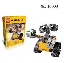 LEPIN 16003 687pcs Idea Robot WALL E Model action figures Building Blocks toys Bricks Kids Figures Gift Compatible  21303