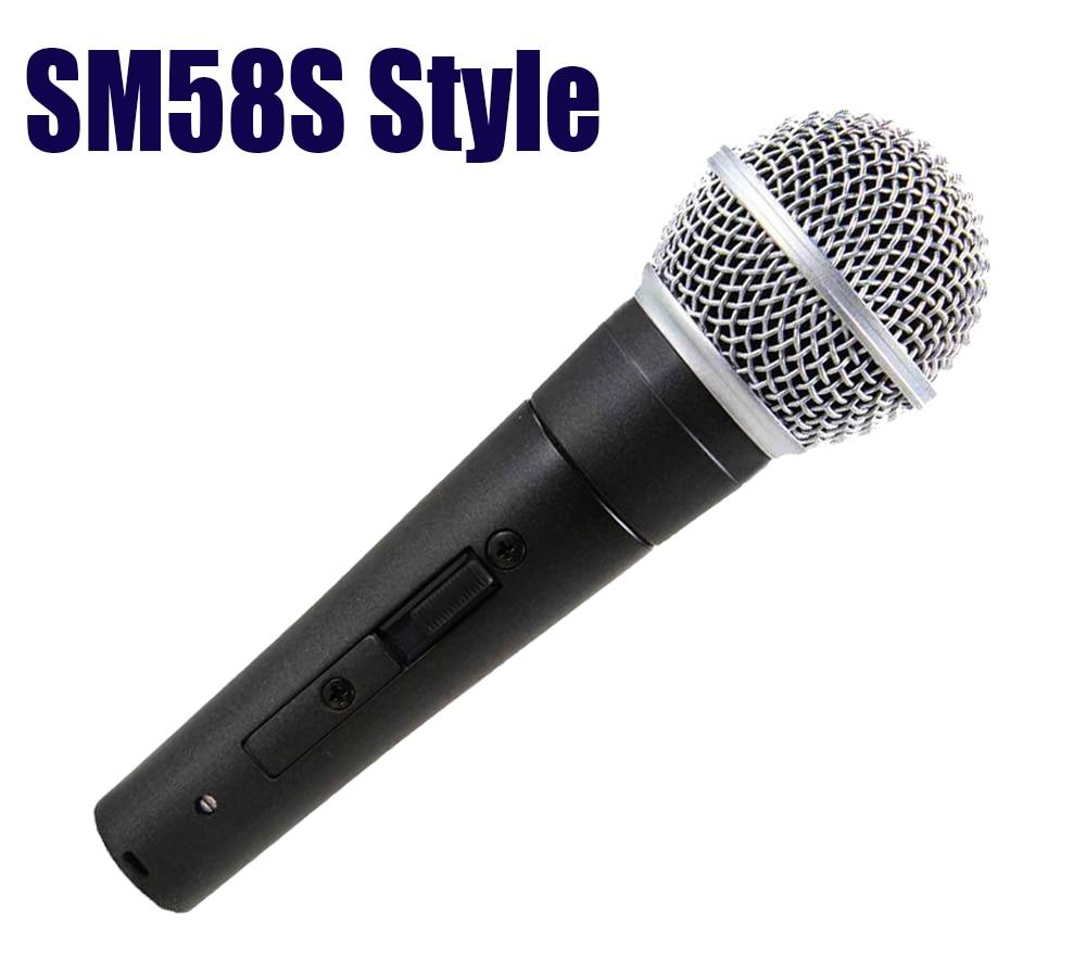 Finlemho Professional Microphone Dyanmic Karaoke Recording Studio Vocal Capsule For Guitar Amplifier Drum Kit Instrument Mixer Live Equipment Consumer Electronics