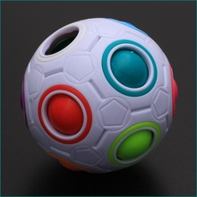 Spherical Cube Rainbow Ball Football Magic Speed Cube Puzzle Children's Educational Toys Cubes Anti Stress Cube Fidget Toy