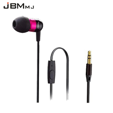 JBMMJ A8 Earphones Mobile Smart Phones Bass Stereo HiFi Earbuds High Quality Earphone Microphone voice call for smartphone(China)