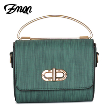 ZMQN Women Messenger Bags PU Leather Small Mini Bags For Phone Party Side Shoulder Bags Trumpet Flap Handbags Bolsa Green B308(China)