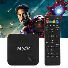 MXV android TV box quad-core Amlogic S805 Mali 1 gb RAM 450 8 gb ROM XBMC wireless bluetooth media player is loaded