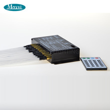 Fiber optic falling star light kit with 5W white LED + 400pcs 0.75mm 3m fiber optic cable + 24keys remote controller