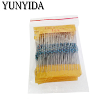 1 Pack 300Pcs 10 -1M Ohm 1/4w Resistance 1% Metal Film Resistor  Assortment Kit Set 30Kinds*10pcs=300PCS Free Shipping