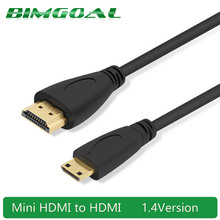 1M,1.5m,2M,3M High speed Gold Plated HDMI TO MINI HDMI C Type Plug Male-Male HDMI Cable 1.4 Version 1080p 3D for TABLETS DVD