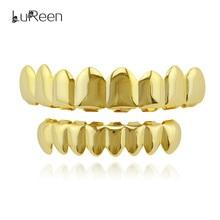 Лорин модные золотые зубы grillz хип-хоп верхней и нижней грили зубные панк Хэллоуин Зубы вампира Caps ювелирных LD0007(China)