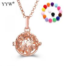 YYW Tree Pattern Round Perfume Aromatherapy Pendant Essential Oil Diffuser Pregnant Ball Locket Cage Pendant Women's Gift(China)