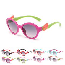 Cute Round Design For Children Kid's Color Frame UV400 Goggle Sunglasses  Eyewear Glasses
