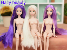 Hazy beauty 3D Blue green eyes Original Chinese Nude Doll / White Skin / 14 Joints For Xinyi doll BBI00XY6(China)