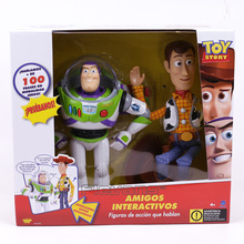 Original Toy Story Woody and Buzz Lightyear Talking Action Figure Collectible Model Toy Gift