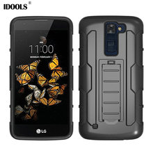 For LG K8 Case Shockproof Anti Knock Kickstand Belt Clip Holster Hard Mobile Phone Cases For LG K8 K350 5.0 Stand Cover IDOOLS(China)