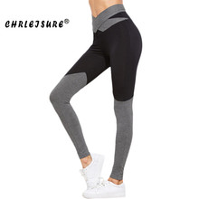 Buy Chrleisure S-XL New High Waist Bow Leggings Women Color Patchwork Elasticity Fitness Legins Pants Trendy Workout Leggings for $10.68 in AliExpress store