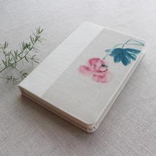 Lotus Pattern Cotton Cloth Notebook Creative Daily Memos A5 Composition Book Blank Inpage Students Gifts Elegant Book Hot PL