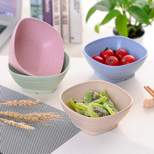 Creative Tableware Bowl Noodles Salad Bowl Student Couples Wheat Straw Rice  Soup Bowl Food Container 4 C