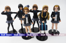 6pcs/lot Japanese anime figure 10cm k-on!action figure best Christmas kids toys Akiyamn Mio Yui Hirasawa school uniform Cartoon(China)