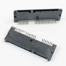 50 Pcs Per Lot SATA 7+15 Pin 22 Pin Right Angle Female Hard Drive HDD Connector Adapter