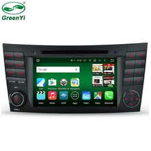 GreenYi Octa Core Android 6.0 Tablet PC 1024*600 Car DVD Player For Mercedes/Benz E Class W211 W209 W219 GPS 2GB RAM Head Unit