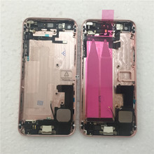 For iPhone 5 5G 5S like SE Back Battery Housing Cover Assembly with full small parts Rose Gold color free shipping