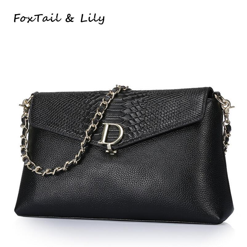 FoxTail &amp; Lily Serpentine Genuine Leather Bag Famous Designer Women Messenger Bags Ladies Real Leather Shoulder Crossbody Bag <br>