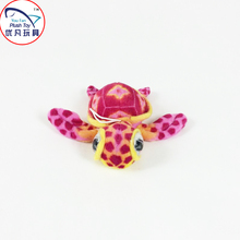 Cute design red turtle plush toy pendant mini stuffed animal with big eyes kids gift toy