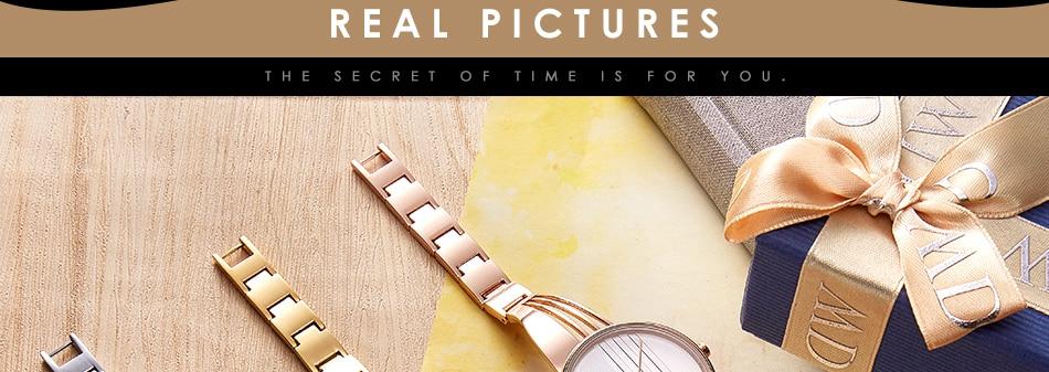 ساعة اليد سوار كوارتز  مطلية بالذهب 23