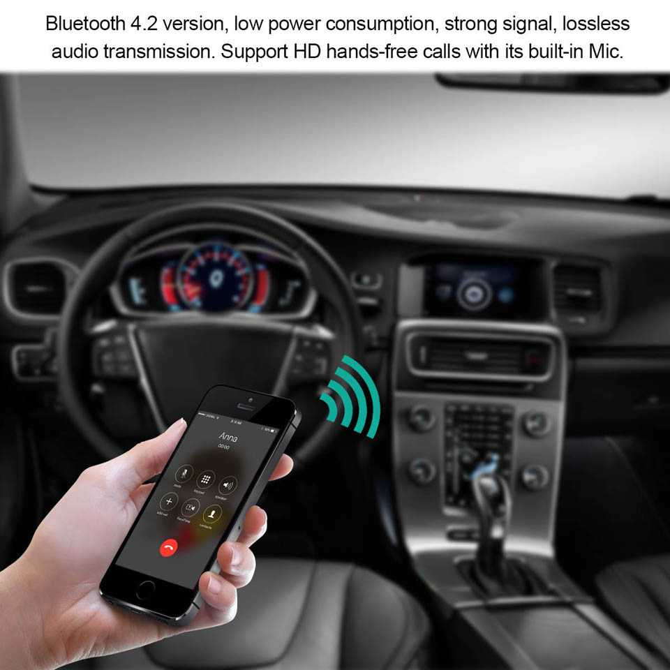 Universale Mini Bluetooth Audio Receiver Bluetooth Transmitter 3.5mm Jack Handsfree Bluetooth 4.2 Car Kit Music Adapter Car AUX