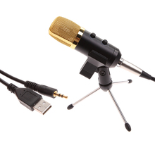 Professional USB Cardioid Condenser Microphone Audio Studio Vocal Recording Mic Broadcasting Microphone + Mount Stand