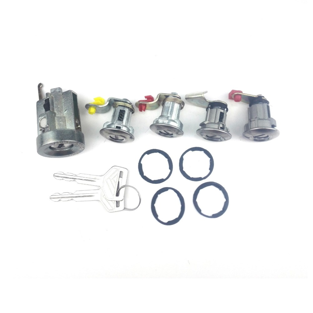 Ford Ranger 1995 Ignition Key Switch Lock Cylinder Tumbler Barrel 2 Keys Black