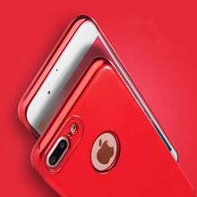 Hot China Red Fitted Case For iPhone 7 iPhone7 Plus Back Cover Eletraplated Fashion Shell Soft Cases High Quality Luxury Brand
