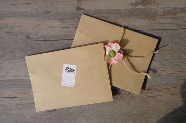 gotyou 10 Pi/èces Enveloppe de Carte de Voeux,Enveloppe en Papier Kraft,Carte de Voeux R/étro//Enveloppe de Carte Postale//Carte Postale D/écor/ée//Carte de Voeux de Thanksgiving,Cadeau de F/ête de Vacances