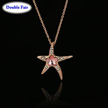 DWN043 Wintersweet Cubic Zirconia Rose Gold Color Necklaces & pendants For Women Africa Crystal Brand Jewelry Anti Allergy()